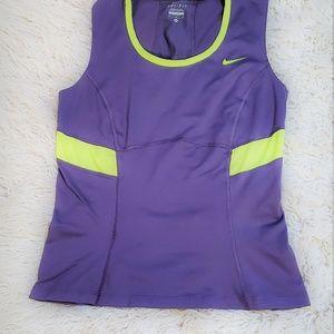 Nike Dri-Fit Grayish purple Athletic Top Tank Med